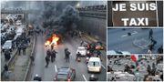 Demonstrationer och protester i Paris. TT
