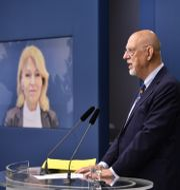 EU-minister Hans Dahlgren och utrikeshandelsminister Anna Hallberg håller en pressträff med anledning av Brexitavtalet Henrik Montgomery/TT / TT NYHETSBYRÅN