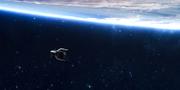 Med hjälp av en robotliknande farkost, Clearspace-1, planerar den europeiska rymdmyndigheten Esa att hämta satelliten Vespa. TT/Esa