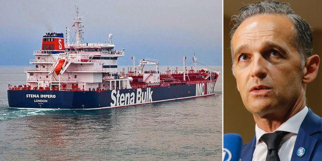 Det brittiskflaggade fartyget som beslagtogs av Iran den 19 juli/Heiko Maas TT