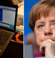 Till höger: Angela Merkel.  TT