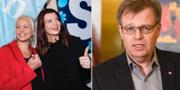Moderaternas Emilie Pilthammar, och SD:s Louise Erixon i Sölvesborg samt S-kommunalrådet Per-Ola Mattsson i Karlshamn.  TT