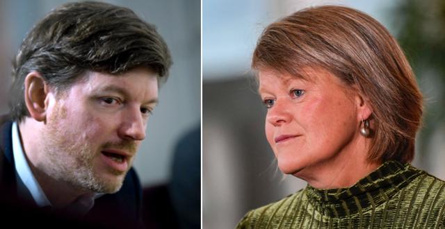 Martin Ådahl och Ulla Andersson.  TT