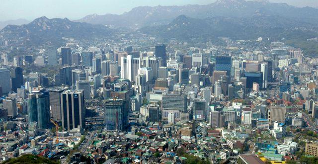 Kvinnan togs i karantän när hon anlände till Seoul. Ahn Young-joon/TT