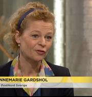 Postnords vd Annemarie Gardshol.  TV4