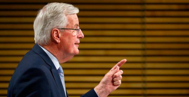 Michel Barnier, EU:s brexitförhandlare.  Francois Lenoir / TT NYHETSBYRÅN