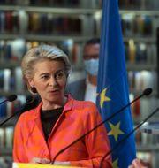 Ursula von der Leyen och Cyperns president Nicos Anastasiades  Katia Christodoulou / TT NYHETSBYRÅN