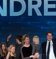 Andrew Scheer tillsammans med sin familj efter valet i oktober. Adrian Wyld / TT NYHETSBYRÅN