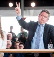Rasmus Paludan till höger, bild från 2019.  Mads Claus Rasmussen / TT NYHETSBYRÅN
