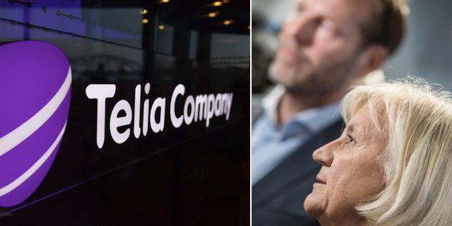 Telias vd och koncernchef Johan Dennelind och styrelseordförande Marie Ehrling TT