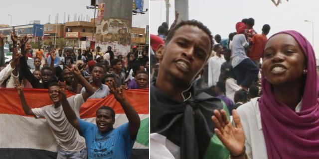 Folk firar i Khartoum, Sudan  TT