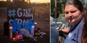 En minnesplats för offren i dådet och en av de dödade, Keyla Salazar.  AP/privat