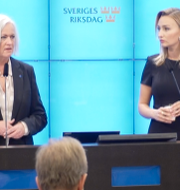 Acko Ankarberg Johansson och Ebba Busch. SVT