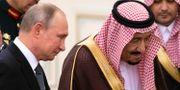 Rysslands president Putin och Saudiarabiens kung Salman. Arkivbild. Alexander Zemlianichenko / TT NYHETSBYRÅN