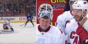 David Ayres stod för åtta räddningar. NHL