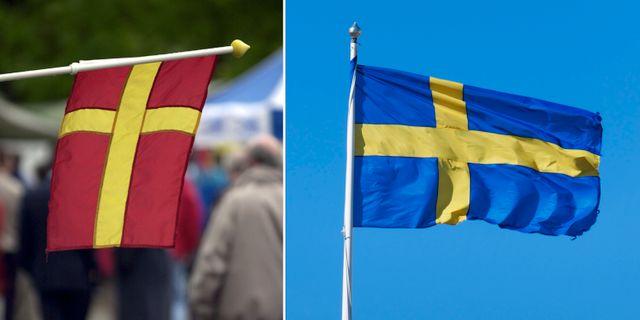 Skånska Och Svenska Flaggan Får Inte Vaja Ihop Omni