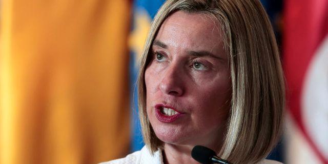 EU:s utrikeschef Federica Mogherini JUAN CARLOS ULATE / TT NYHETSBYRÅN