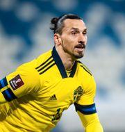 Zlatan Ibrahimovic i blågult tidigare i år. LUDVIG THUNMAN / BILDBYRÅN