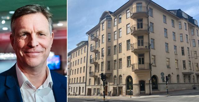 Henrik Saxborn och en Castellum-fastighet på Dalagatan i Stockholm.