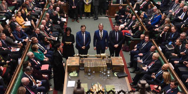Brittiska underhuset. UK Parliament/Jessica Taylor / TT NYHETSBYRÅN