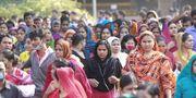 Tidigare i år protesterade fabriksarbetare i Bangladesh mot dåliga arbetsvillkor.  TT