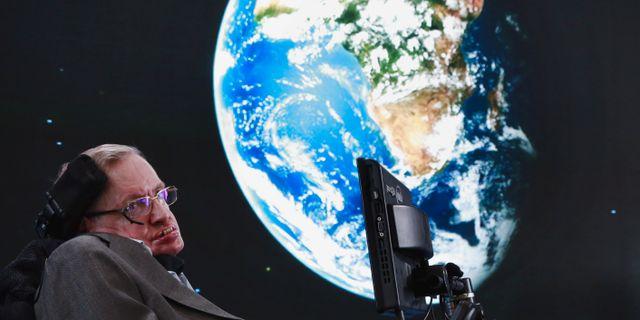 Stephen Hawking.  Lucas Jackson / TT NYHETSBYRÅN