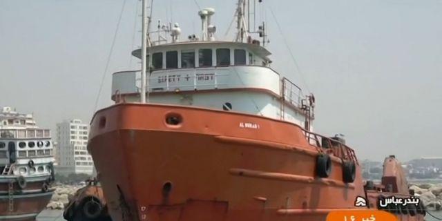 Fartyget som Iran uppger sig ha tagit i beslag. - / IRINN