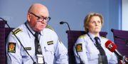 Oslopolisen under gårdagens pressträff. Terje Pedersen / TT NYHETSBYRÅN