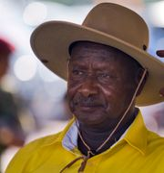 Yoweri Museveni.  Ben Curtis / TT NYHETSBYRÅN