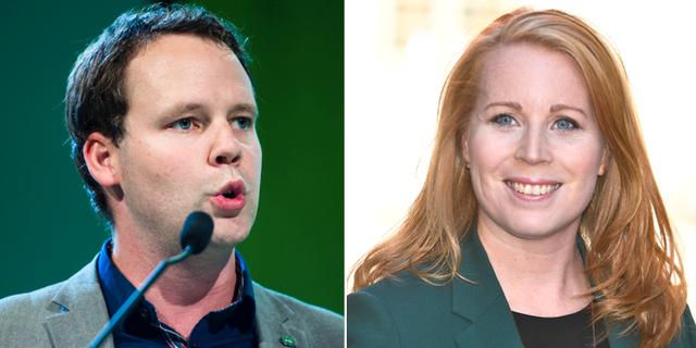 Rickard Nordin och Annie Lööf. TT