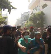 Bilder från flygkraschen i Karachi, Pakistan. TT NYHETSBYRÅN