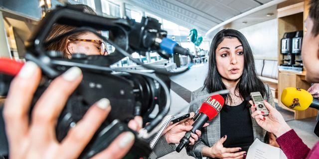 Nooshi Dadgostar är den hittills enda personen som uppgett att hon vill bli partiledare för Vänsterpartiet.  Tomas Oneborg/SvD/TT / TT NYHETSBYRÅN