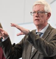 Folkhälsomyndighetens generaldirektör Johan Carlson och statsepidemiolog Anders Tegnell. Janerik Henriksson/TT / TT NYHETSBYRÅN