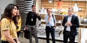 Näringsminister Mikael Damberg (S) besöker Ikea.  Pontus Lundahl/TT / TT NYHETSBYRÅN