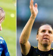 Arkivbilder: IFK Göteborgs lagkapten Mattias Bjärsmyr, AIK:s lagkapten Nils-Eric Johansson.  TT