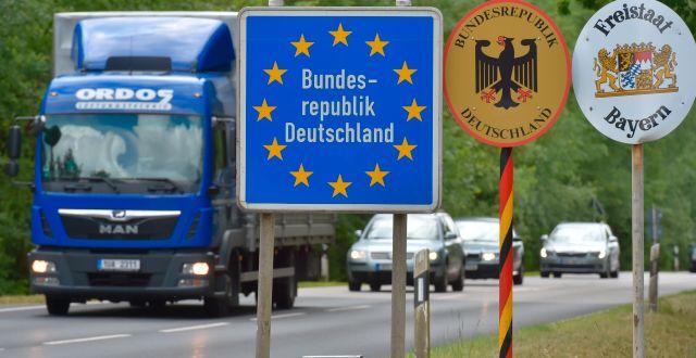 Gränsen mellan Tjeckien och Tyskland. Slavomir Kubes / TT NYHETSBYRÅN