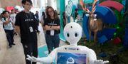 En robot på Baidu Create 2018 i Peking i Kina.  Ng Han Guan / TT NYHETSBYRÅN/ NTB Scanpix