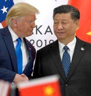 Trump och Kinas ledare Xi vid G20-mötet i Osaka i slutet av juni. Susan Walsh / TT NYHETSBYRÅN/ NTB Scanpix