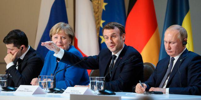 De fyra ledarna som deltog i toppmötet Ludovic Marin / TT NYHETSBYRÅN