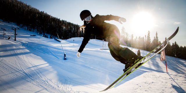 Jennie-Lee Burmansson tränar på lördagen innan avfärd till vinter-OS, 3 februari. Ulf Palm / TT / TT NYHETSBYRÅN