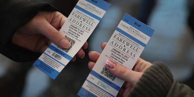 Biljetter till avskedstalet SCOTT OLSON / GETTY IMAGES NORTH AMERICA