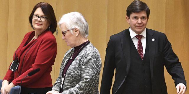 Andreas Norlén inför dagens statsministeromröstning. Claudio Bresciani/TT / TT NYHETSBYRÅN
