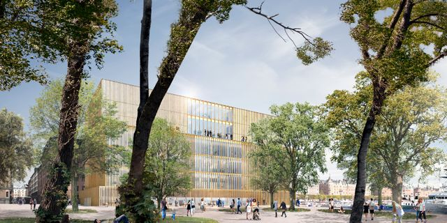 En datorgenererad bild av Nobelcenter på Blasieholmen David Chipperfield Architects/Handout / DAVID CHIPPERFIELD ARCHITECTS