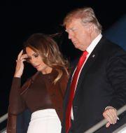 Donald Trump och Melania Trump.  Pablo Martinez Monsivais / TT NYHETSBYRÅN/ NTB Scanpix