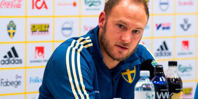Andreas Granqvist.  JONATHAN NACKSTRAND / AFP