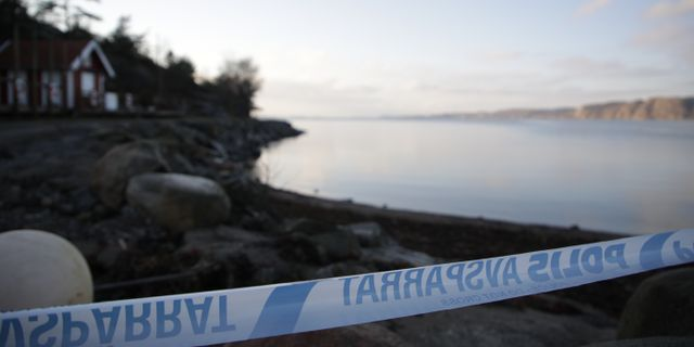 Ett jordskred inträffade igår i en sluttning norr om Lökeberg i Kungälvs kommun. Bild från platsen. Björn Larsson Rosvall / TT / TT NYHETSBYRÅN