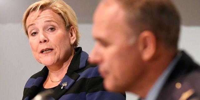 Nederländernas försvarsminister Ank Bijleveld-Schouten. PIROSCHKA VAN DE WOUW / TT NYHETSBYRÅN