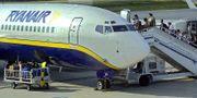 Ryanairplan på flygplatsen i tyska Hahn. Arkivbild. TT