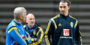 Arkivbild. Lars Richt och Zlatan Ibrahimovic.   TT NEWS AGENCY / TT NYHETSBYRÅN