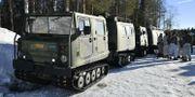 En bandvagn under arméövningen Northern Wind i östra Norrbotten. Naina Helen Jåma / TT NYHETSBYRÅN